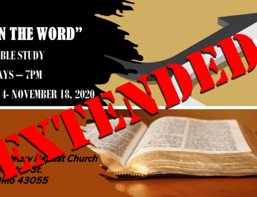 UPDATE: Live In the Word Extended to December 16!