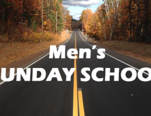 Men's Sunday School Is Now Online!
